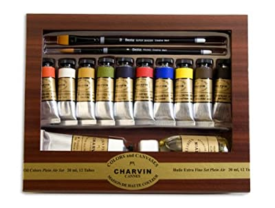 Charvin Extra Fine Oil Color Plein Air 14-Piece Set 20 ml Tubes - Assorted Colors