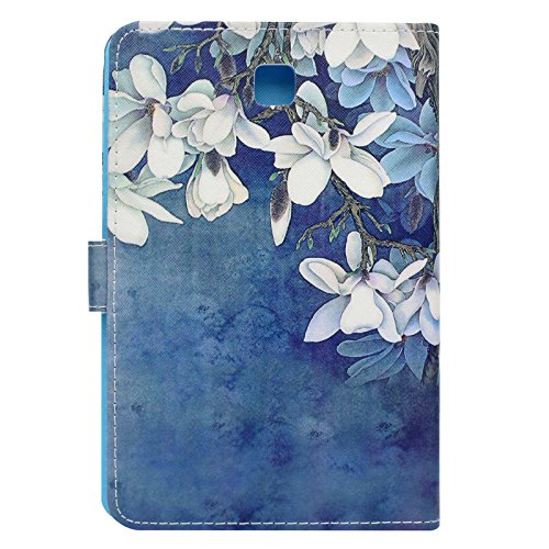 Galaxy Tab A 8.0 inch Case,LittleMax(TM) Ultra Slim Lightweight Thin PU Leather Stand Flip Case Cover Auto Sleep/Wake Samsung Galaxy Tab A 8.0'' SM-T350-02 White Floral by LittleMax (Image #4)