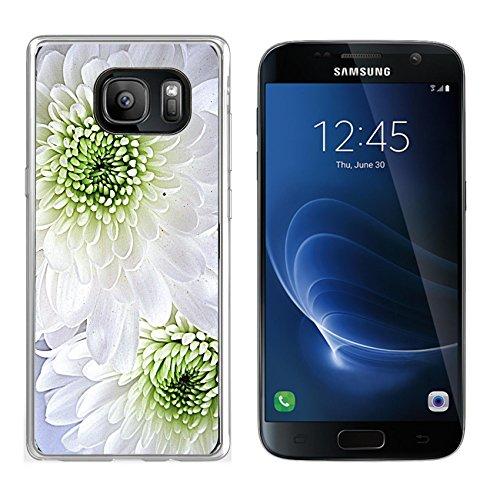 Liili Samsung Galaxy S7 Clear case Soft TPU Rubber Silicone Bumper Snap Cases IMAGE ID: 21796336 White dahlias - Reviews White Dahlia
