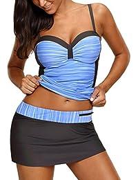 Women S Plus Tankini Swimsuits Amazon Com