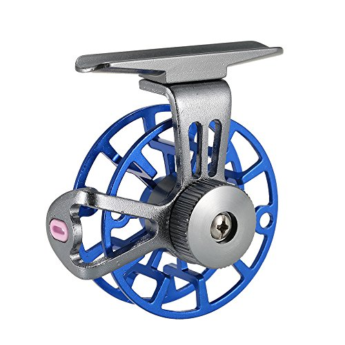 Lixada Mini Ultralight Fly Reel Right Handed Fly Fishing Reel CNC Machined Aluminum Full Metal Reel Former Ice Fishing Wheel Reel Spool Tackle Tool Ice Fishing Spools