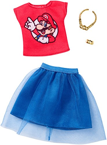 Barbie Super Mario Red Top and Blue Bottom Fashion Pack