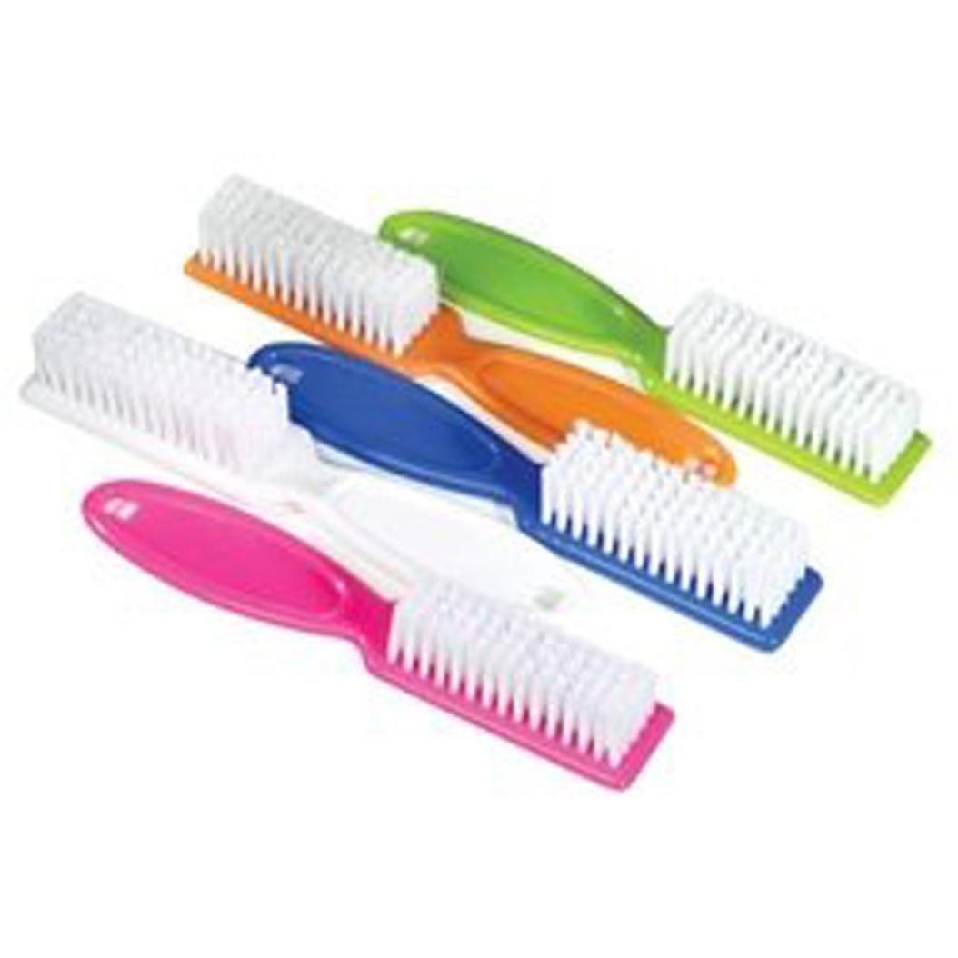 MML 10pcs Pro Nail Scrub Brushes Long Handle Nail Brush Nail Hand Scrubbing Cleaning Brush (at random)