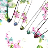 Custom_ S925 gold Silver natural black _tourmaline_Rainbow_adjustable_ choker necklace Pendant _original_designs_for_ men women clavicle Chain