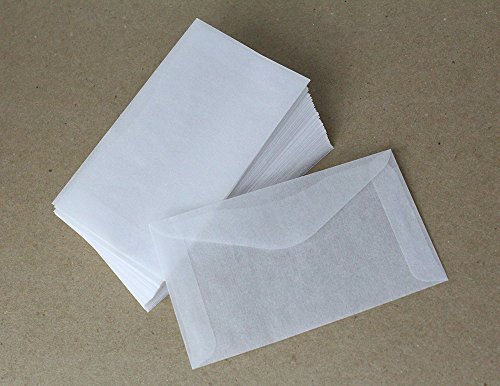 Glassine Wedding Tissue Favor Game 100 Envelopes For $1 State Lottery Tickets - Lotto Scratcher Scratch Off Game Gift Cards Mini Envelopes (2-1/2 x 4-1/4)(Translucent) My Scratch Offs