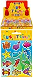 12 Sheets of Sealife / Fish Stickers ideal for Party Bag Fillers - Party Gifts