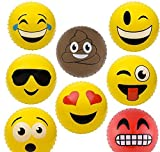 16''EMOTICON KNOBBY BALLS IN ASSORTED COLORS, Case of 1