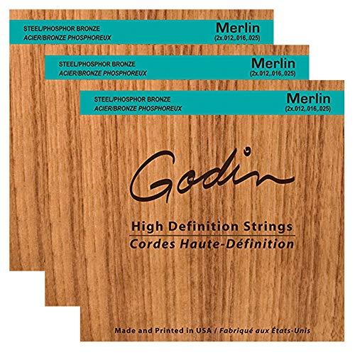 Seagull Merlin High-Definition Strings 12-25 (3 Pack Bundle)