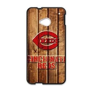 MLB - Cincinnati Reds - Cincinnati Reds Game Ball - Custom Case for HTC One M7 wangjiang maoyi