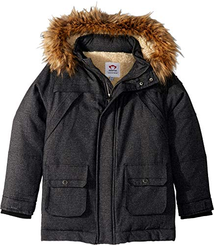 Appaman Kids Baby Boy's Denali Down Coat (Toddler/Little Kids/Big Kids) Charcoal Tweed 6