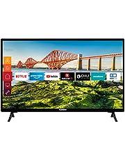 Telefunken XH24J501V 24 inch TV (Smart TV incl. Prime Video/Netflix/YouTube, HD ready, 12 Volt, werkt met Alexa, Triple-Tuner) [modeljaar 2021]