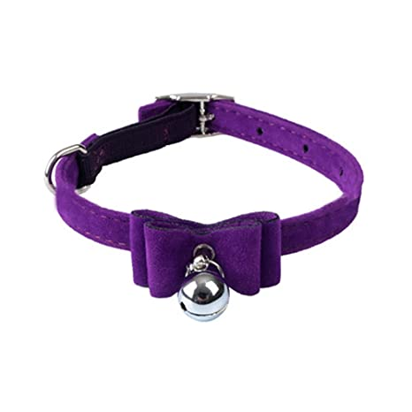 Upper Collar para Mascotas Gatos Gatitos Perros Pequeños con Campana Collar Ajustable 1 * 30CM