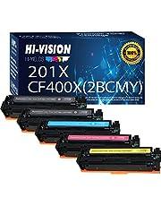 خرطوشة حبر بديلة متوافقة مع HP 201X CF400X CF401X CF402X CF403X لخرطوشة حبر HP Color Laserjet Pro MFP M277dw M277c6 M277n M252dw M252n M274n M277 M252 الطابعة (5-حزم، 2X BK+C+M)