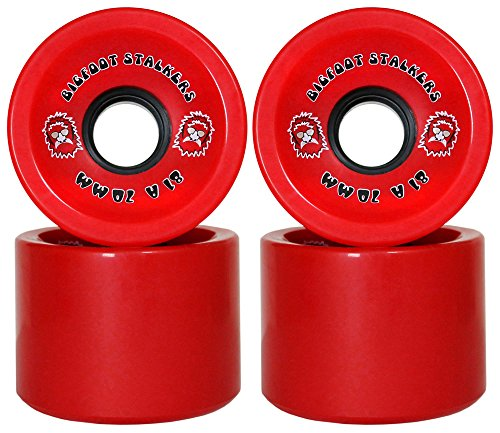 Bigfoot Bigfood Longboard Wheels Stalkers, Red, 70mm