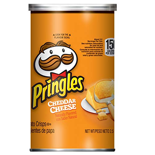 Pringles Potato Crisps Chips, Cheddar Cheese Flavored, Grab and Go, Bulk Size, 2.5 Ounce, Pack of 12