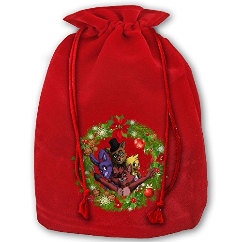 Five Nights At Freddy Christmas Drawstring Christmas Gift Sacks Made Of Pleuche And Sponge Velvet By Gift Boutique