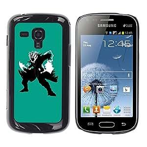 Be Good Phone Accessory // Dura Cáscara cubierta Protectora Caso Carcasa Funda de Protección para Samsung Galaxy S Duos S7562 // Shadow Warrior
