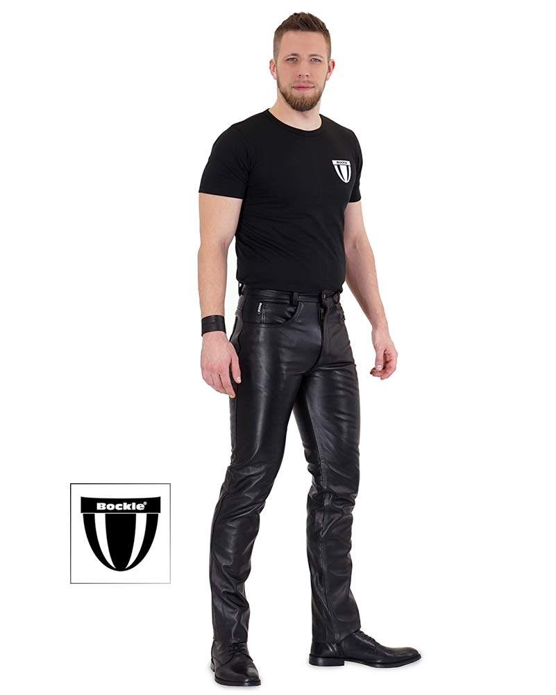 Traditional Leather Trousers with Belt Timo nut