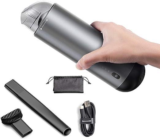 Aspiradora de Mano Coche Hoover Limpie la lámpara de absorción de Alta Potencia y la Carga rápida Aspiradora de Coche portátil Aspiradora de Mano/de automóvil inalámbrico,Silver: Amazon.es: Hogar
