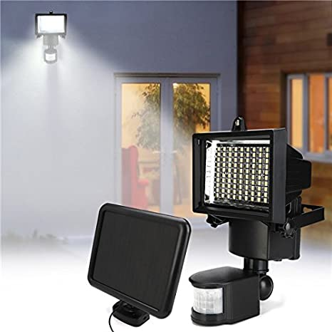 100 LED Solar Power Sensor Light PIR Motion Garden Security Flood Wall Lamp