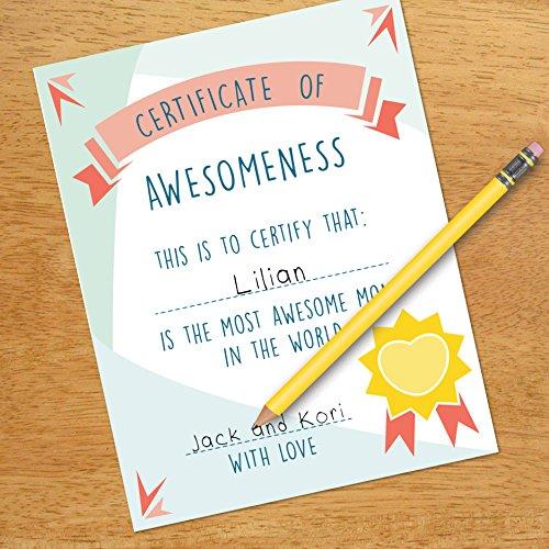 Amazon.com: Certificate Of Awesomeness, Mom\'s Decor, 11x14\