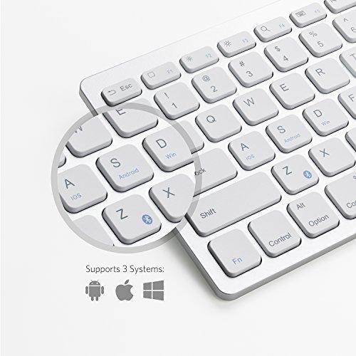 "Anker Bluetooth Ultra-Slim Keyboard for iPad Air 2 / Air, iPad Pro, iPad mini 4 / 3 / 2 / 1, iPad 4 / 3 / 2 , New iPad 9.7""(2017), Galaxy Tabs and Other Mobile Devices (White)"