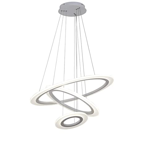 Novely Chandeliers- White round Chandelier 2 Ring Dormitorio ...