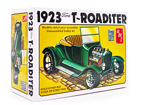 AMT 1923 Ford Model-T Roadster Street Rod - 1/25 Scale Model Kit - Buildable Vintage Vehicles for Kids and Adults