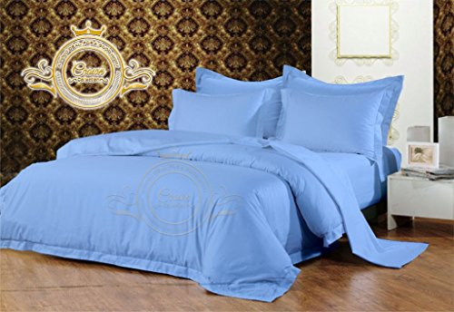- Crown Collection Hotel Beddings 350-Thread-Count 100% Egyptian Cotton 4 Piece Sheet Set Fit Upto 16