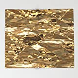 Society6 Gold Metal Throw Blankets 88'' x 104'' Blanket