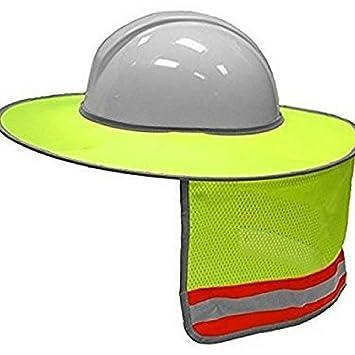 ZKADMZ@ Sombrilla Construcción Al Aire Libre Seguridad Casco Protector Sombrero Protector del Cuello Rayado Reflectante