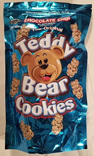 - Chocolate Chip Teddy Bear Cookies Bite Size 12 oz. Bag Global Brands