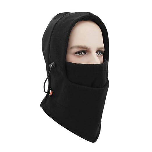 6cf0618c87b ZTMY Hooded Face Mask Fleece Balaclavas Neck Cover Warmer Mask Winter Ski  Snowboard Mask Wind Protector