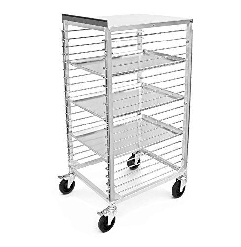 New Star Foodservice 42979 Commercial Sheet Pan Rack, Aluminum, Backsplash Top, 20-Tier, 26 x 20 x 49 inch