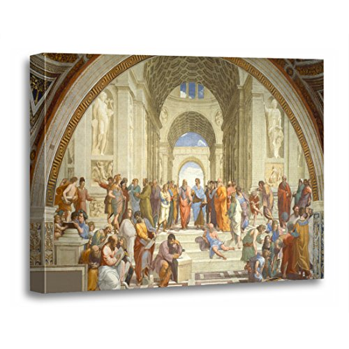 TORASS Canvas Wall Art Print Athens Raphael School of Philosophy Fine Famous Painting Artwork for Home Decor 24