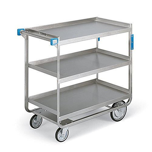 Lakeside 722 Heavy Duty Utility Cart, 3 Shelves, Stainless Steel, 700 lb Capacity, W 19-3/8