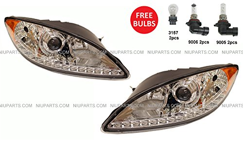 Headlight with LED Strip at Bottom - Driver and Passenger for sale  Delivered anywhere in USA