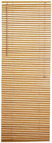 (Achim Home Furnishings Morning Star 1-Inch Mini Blinds, 34 by 64-Inch, Wood)