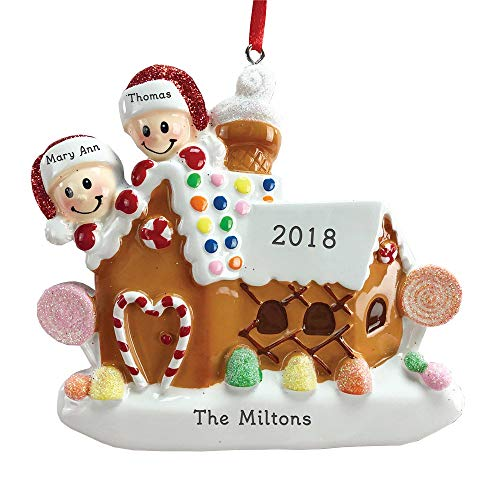 GiftsForYouNow Personalized Gingerbread House Family Ornament, Family ()