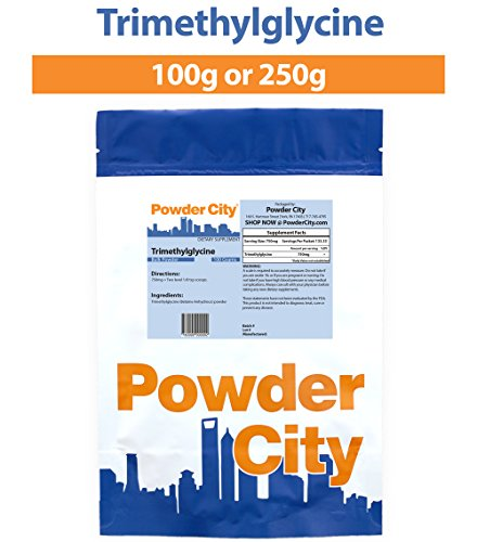 Powder City Trimethylglycine (TMG, Betaine Anhydrous) (100 Grams)
