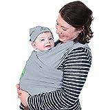 Kari-Me Baby Carrier Sling Wrap Newborn to 3 years up to 15kg (Grey Marl)