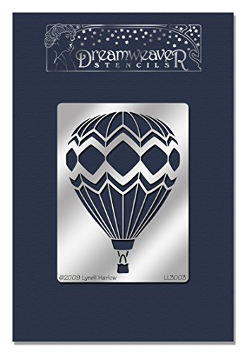 Wood Stampendous New - STAMPENDOUS Dreamweaver Stencil, Hot Air Balloon