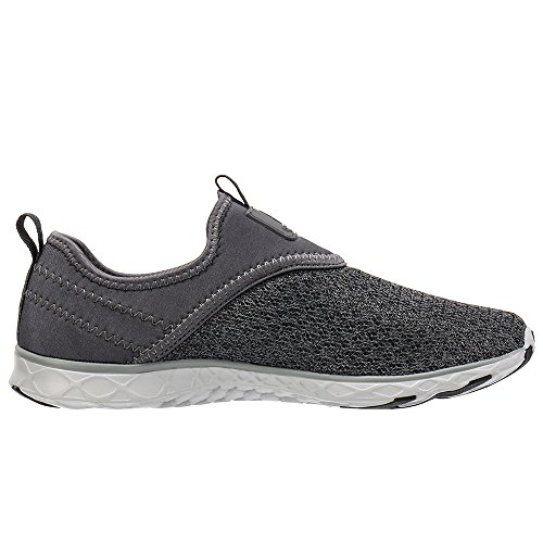 ALEADER Mens Slip-On Athletic Water Shoes All Grey 8.5 D(M) US