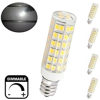 Bonlux 6W Dimmable E12 LED Light Bulb Daylight 6000K T3/T4 Candelabra E12  Base Omni
