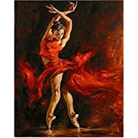 AELAHER Pittura By Numbers Digital Modern Dipinti Ad Olio su Tela Wall Art Home Decor Foto Colorare dai Numeri Fire Dance 40X50Cm Regalo Arte Adulti Bambini