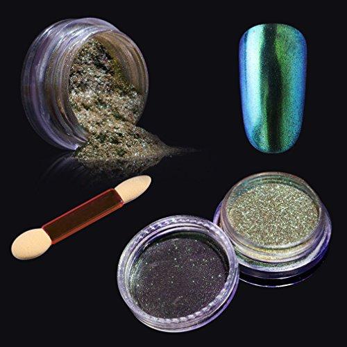 Elite99 Chameleon Color Change Nail Chrome Powder,Shinning