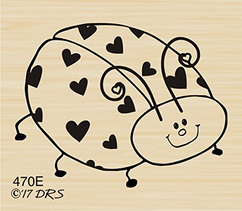 Love Bug Rubber Stamp by DRS Designs Rubber Stamps