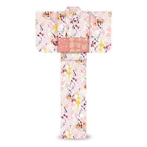 再生可能見物人最大限tsumori chisatoレディース 浴衣フラワーガーデン ピンク バレエ7t-25