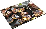 Liili Natural Rubber Placemat IMAGE ID 32576587 Chestnuts in a frying pan on an old table with autumn leaves