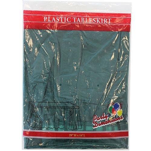 (Plastic Table Skirts Hunter Green)